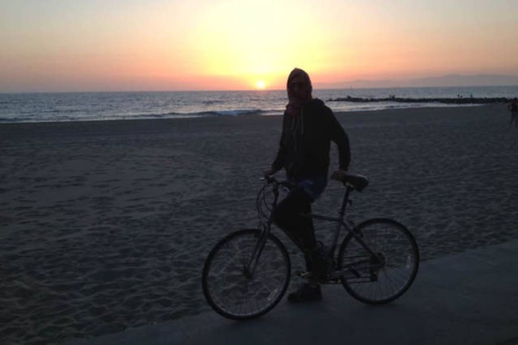Rent a bike & go for a ride on the Strand! (Paved path runs for miles & miles along the Pacific)  Sunsets are gorgeous! And you're just a Block away!