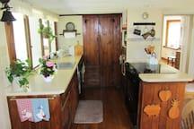The kitchen galley
