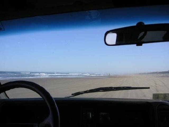 You have to drive on the beach to get here.