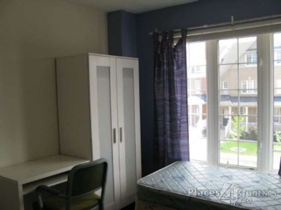 Everything you need.  Private room with your own full bathroom. Bright rooms with great windows!