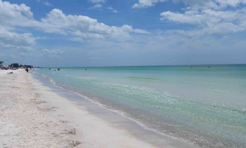 Anna Maria Island - The public beach right down the street is just gorgeous!  Laid-back too.