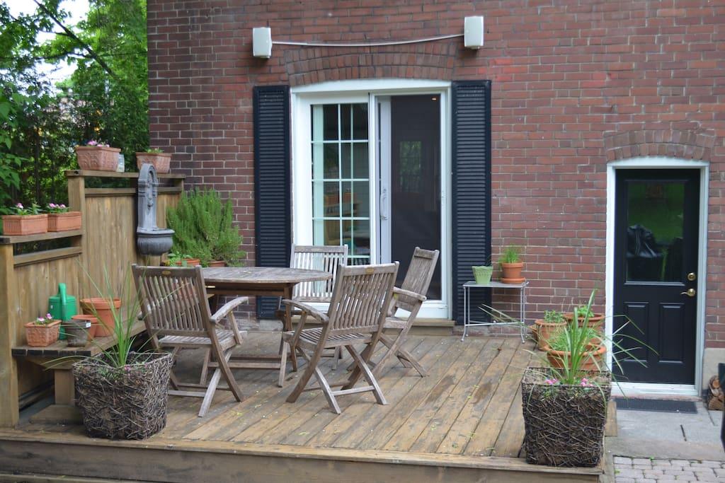 Back yard deck