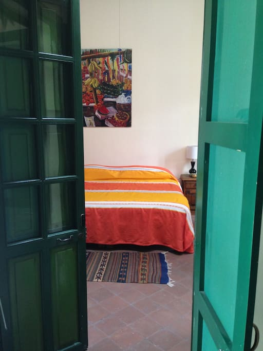 From the doorway into the bedroom from the zaguan.