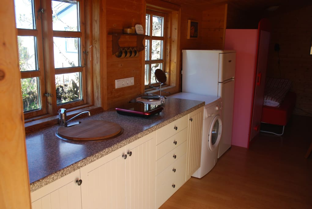 Kitchen amenities.