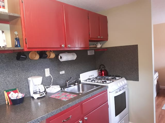Kitchenette with stove/oven