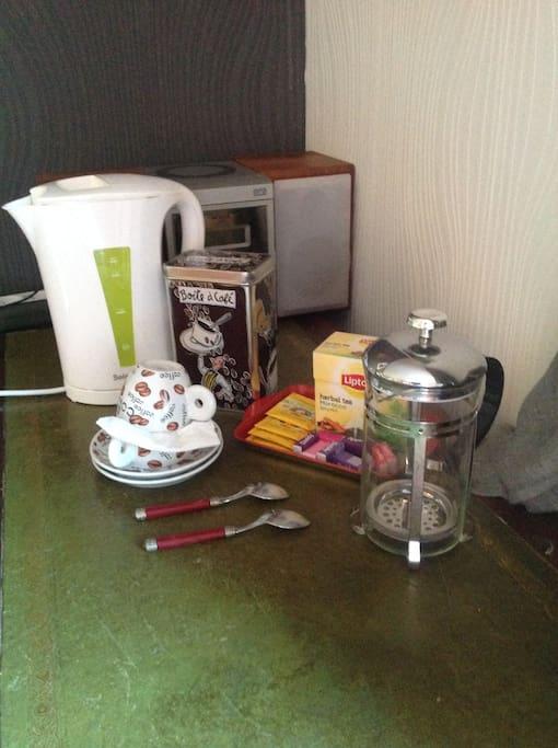 Café et thé   dans la chambre