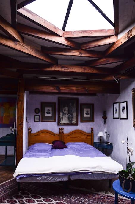 Bett unterm Sternenhimmel