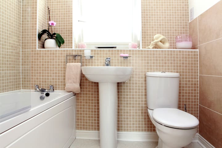 Bathroom with Shower and all amenities.