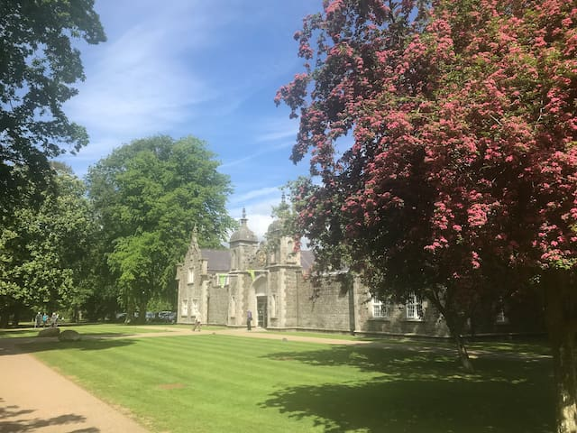 Clotworthy house in Antrim castle gardens, where the cafe is situated.