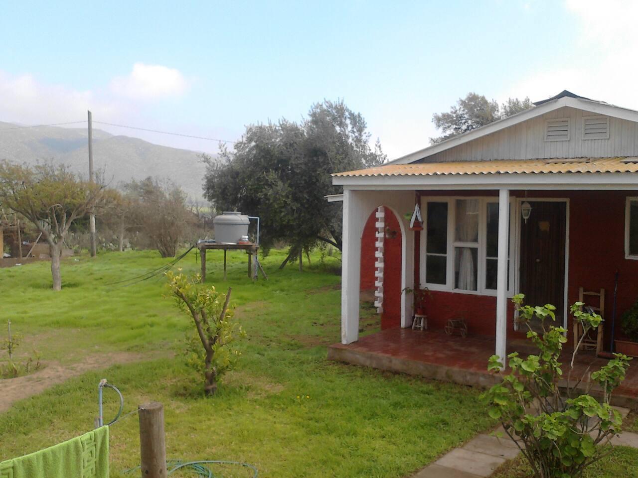en esta foto se puede observar un poco de la casa y el terreno
