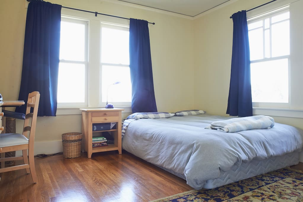 Bedroom #2 with queen bed and views of the Bay.