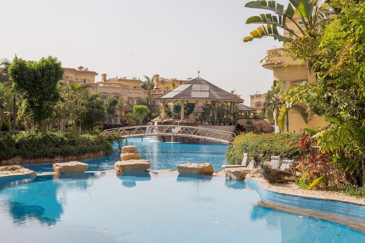 2 Bedroom pool side view at El Safwa Resort