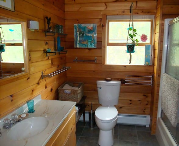 Full bathroom shared with other guest room