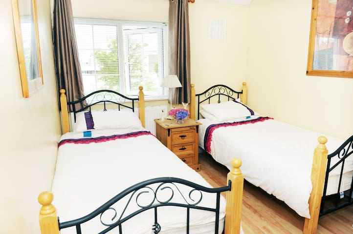 Beautiful twin room in family home. - Dublin - Huis