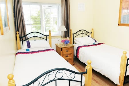 Beautiful twin room in family home. - Dublin - Hus