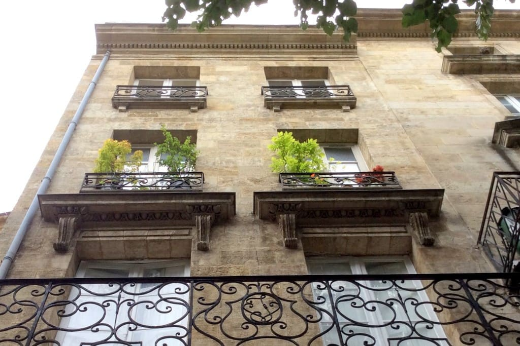 Bordeaux Grand Bell apartment is the one with the plants