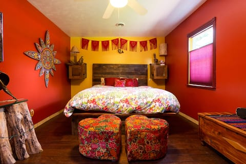 Master Bedroom in Beautiful Urban Farmhouse