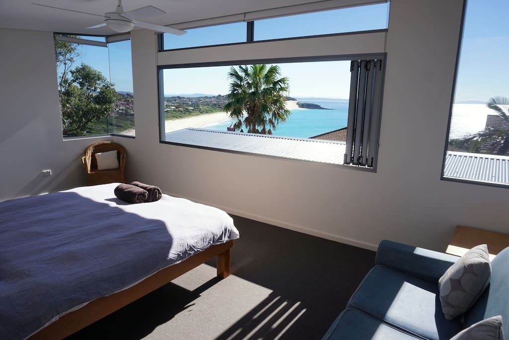 Beautiful beach and ocean views from main bedroom