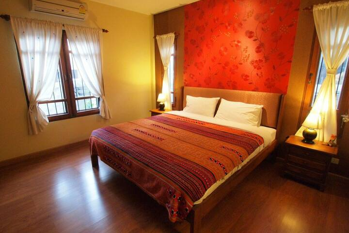 Plumeria Home; Double Bedroom 1 - Chiang Mai - House