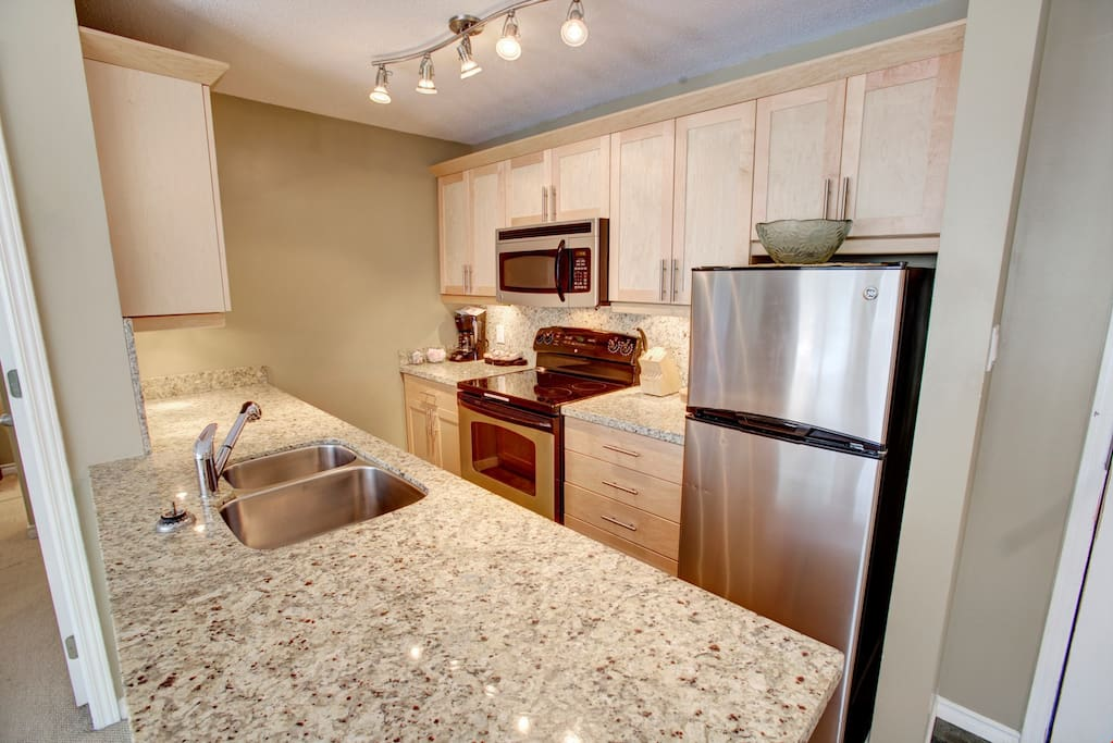 Make a delicious meal in the kitchen with a variety of appliances.