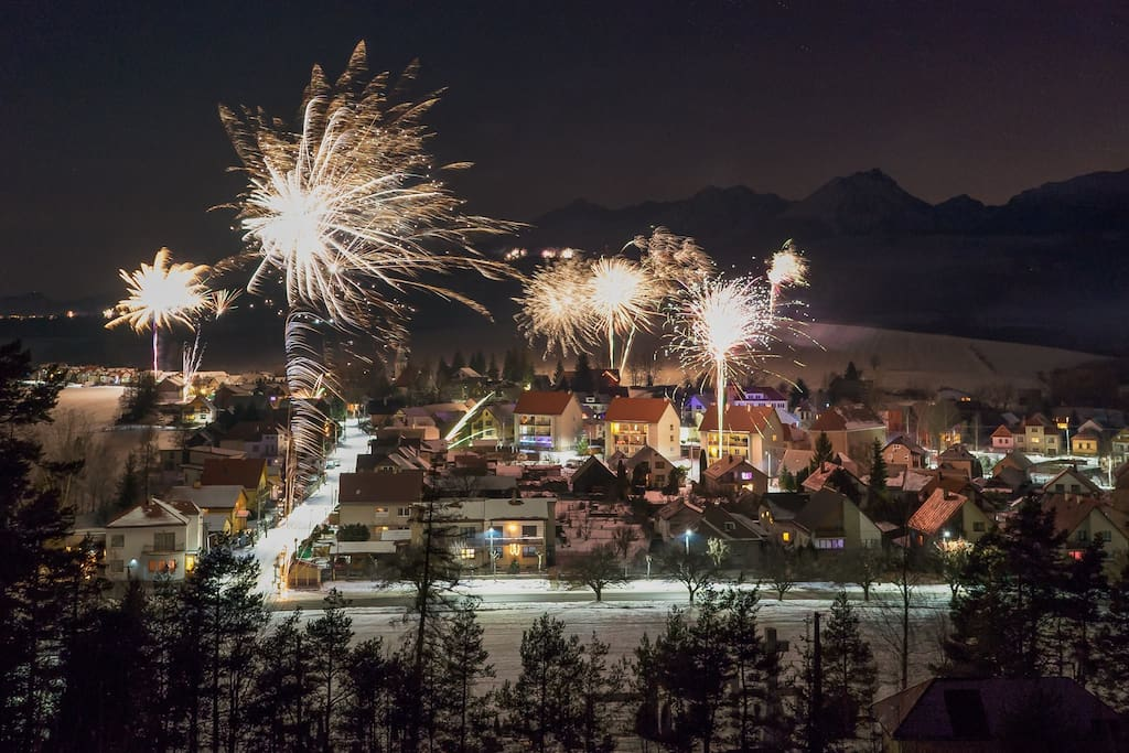 New Year's Eve in our village! :)