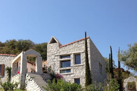 Villa with sea view and large swimming pool - House