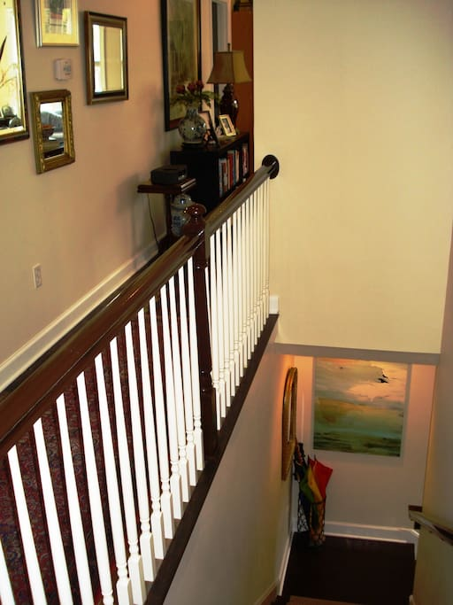 Unit 2 - Stairway and Hallway to Living Room