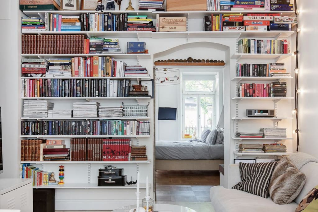 Books, books, books...This neighborhood offers a myriad of vintage stores, eclectic shops, Swedish fashion, galleries and design stores, mixed with an abundance of places to eat and drink. But you can also just stay in.