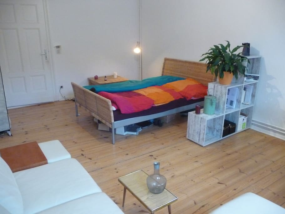 And this is the bed in which you would be sleeping in!