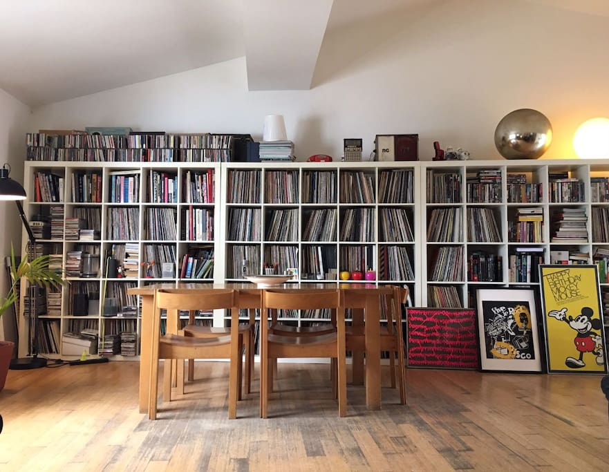 We have lots of vinyl, books and movies.