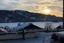 Client pictures! - Thanks Adam  The winter view you'll get to enjoy at sunrise.  Photos clients! - Merci Adam  La vue hivernale dont vous pourrez profiter au lever du soleil.