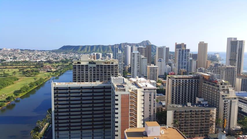 Great Large studio in Waikiki - Honolulu - Apartment