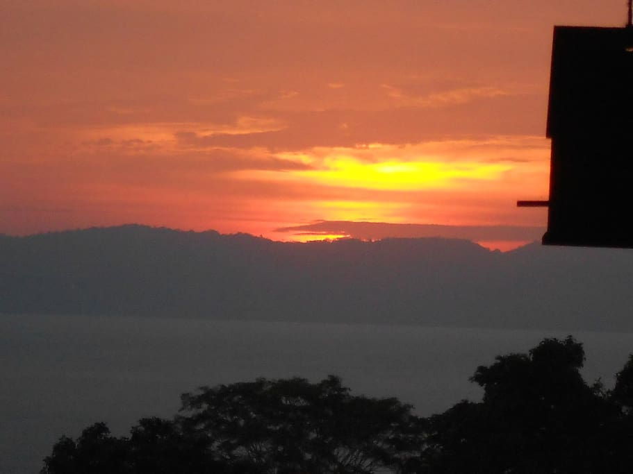 Sunset over Matapalo...