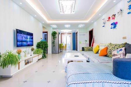 西安咸阳国际机场免费接送机北欧风温馨三居室