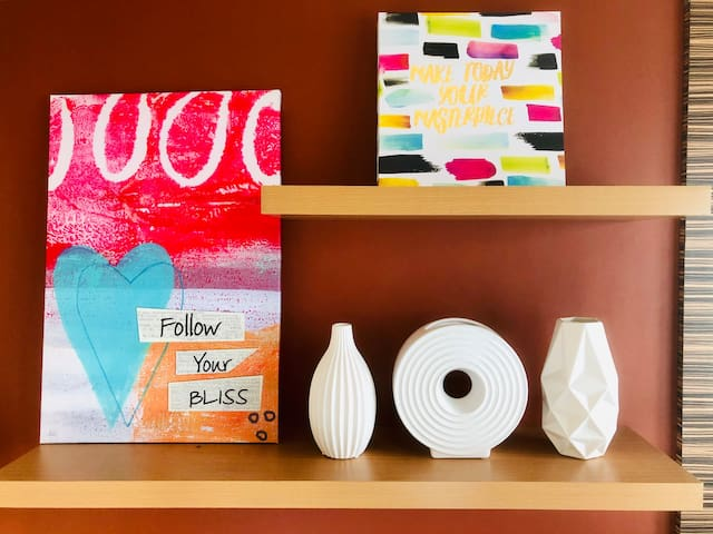 Bedroom Accent Wall, Inspiration: Follow Your Bliss, Make Today Your Masterpiece