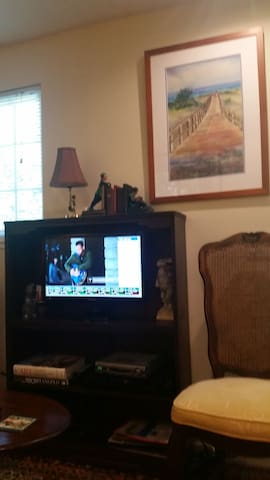 TV with High Def cable.