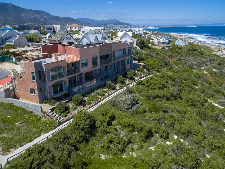 Property is located right on the beachfront