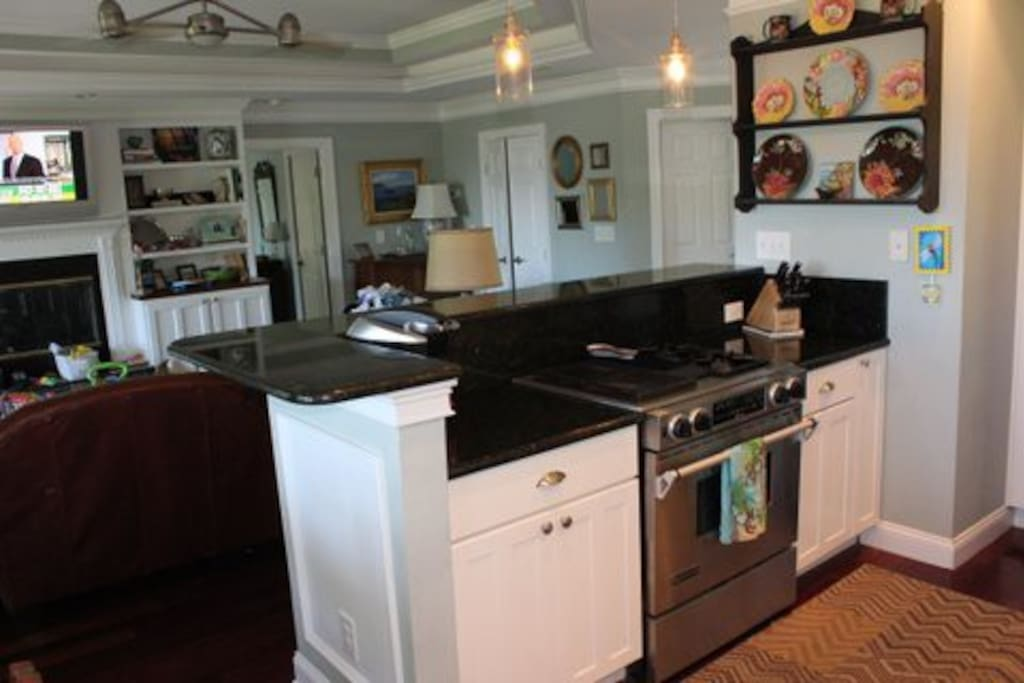 All stainless steel appliances.  Gas stove top.