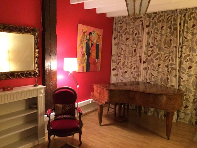 The Piano room in farmhouse - Genewa - Dom
