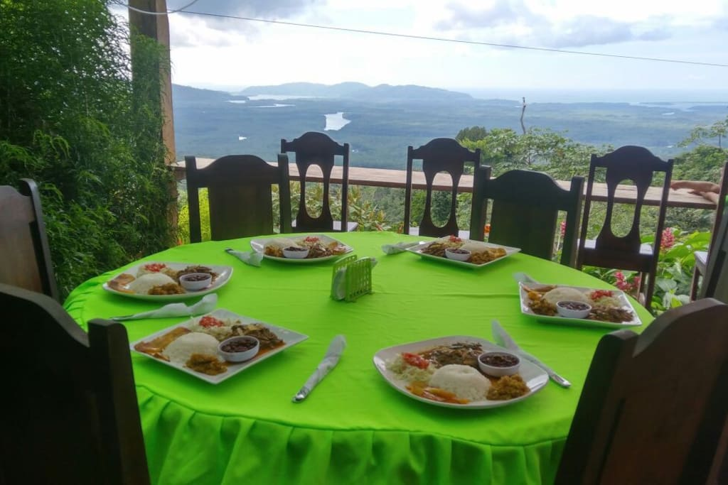 Come enjoy an authentic Costa Rican meal while staring off into that view!