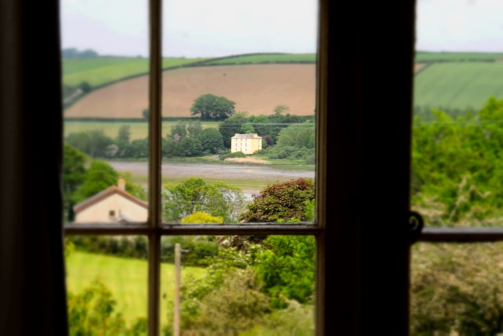 View of the estuary from one of the bedrooms.