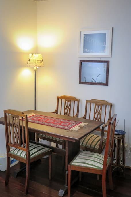 Dining table + Floor lamp