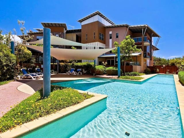 Resort style  beachside paradise.