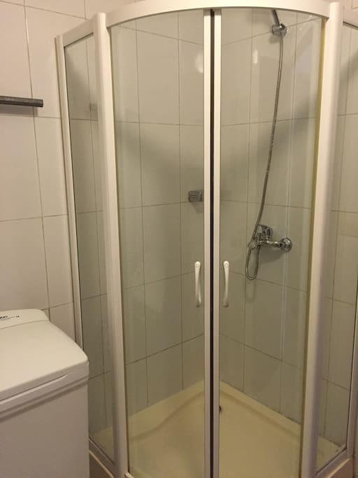 Private bathroom with shower cabin