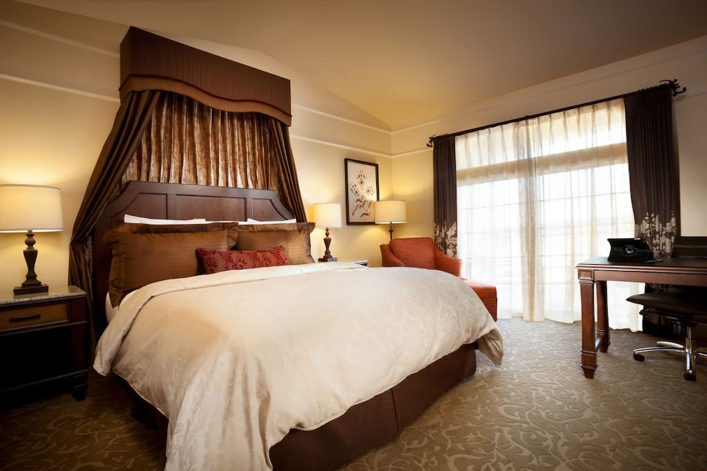 Relax in the stunning Superior King Room after a day exploring Wine Country