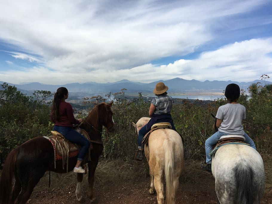 Horses and a guide are available for rent  if you want to explore Patzcuaro's surroundings on horseback. Please et us know ahead of your stay if you would like this option.