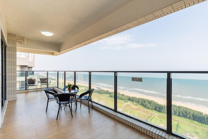 海陵岛十里银滩保利银滩海洋浴场正面一线海景超高层二室一厅可烧饭