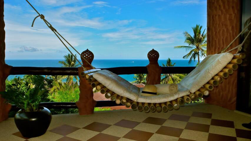 Comfy hammock on the balcony