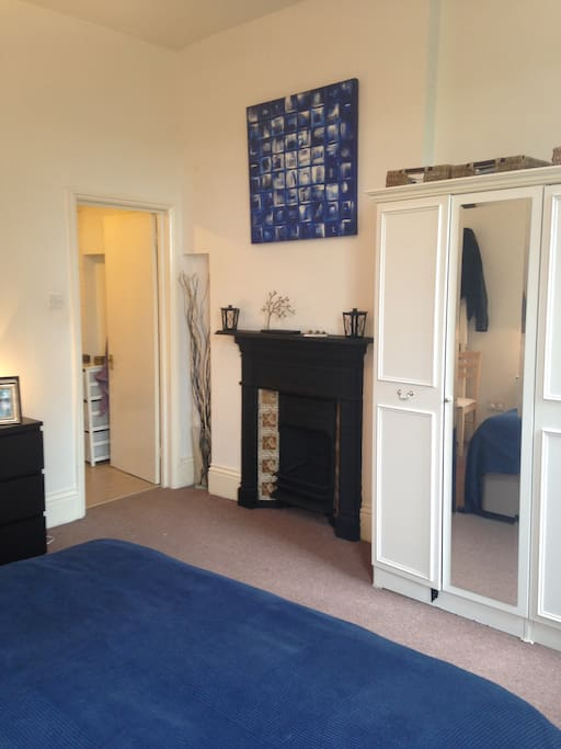 Very large double bedroom with brand new Hypnos bed, fireplace and en-suite bathroom