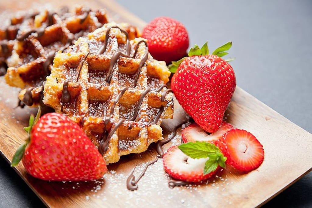 Amazing waffle place nearby